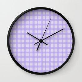 Purple Plaid Pattern Wall Clock