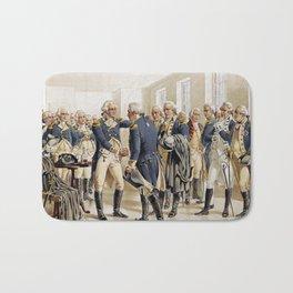 Washington's Farewell to Officers by H.A. Ogden (1893) Bath Mat