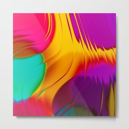 Abstract Color Parade Metal Print