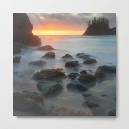 Sunset Near Pewetole Island Metal Print
