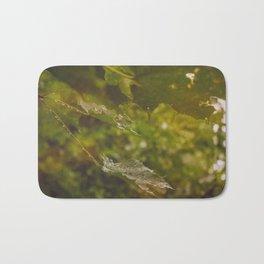 Rainy autumn leaves Bath Mat