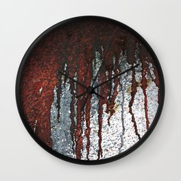 Bloody Rust Drips Wall Clock