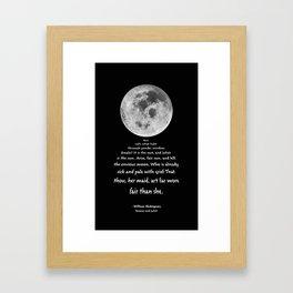 Moon Bridge Shakespeare Framed Art Print