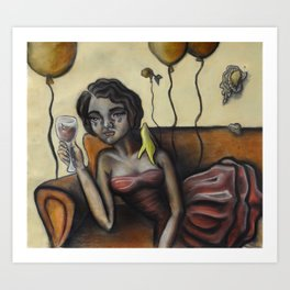 Pity party by Lilly Hibbs Art Print