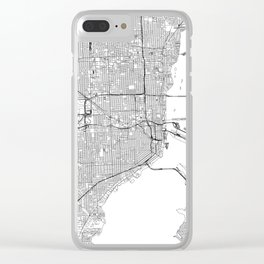 Miami White Map Clear iPhone Case