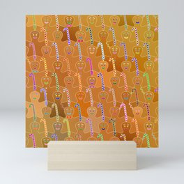 Happy Gingerbreads Mini Art Print