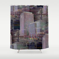 office Shower Curtains featuring office Dayze by David  Gough