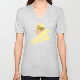Kentucky Derby Old Rich Lady With Hat Unisex V-Neck