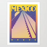mexico Art Prints featuring Mexico by David Chestnutt