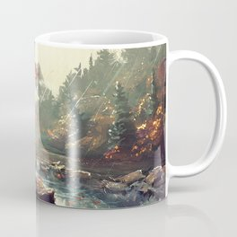 Tardis Stay With A Tree Coffee Mug