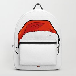 Bichon Frise Dog Christmas Hat Present Backpack
