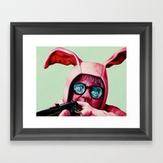 I'll shoot your eyes out Framed Art Print