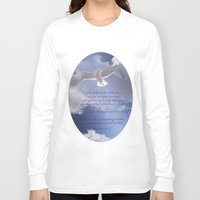 bible verses Long Sleeve T-shirts featuring Seagull with Matthew 6:26-26 Verses by Photos and Images by Corri