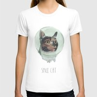 space cat T-shirts featuring Space Cat by MaryAube