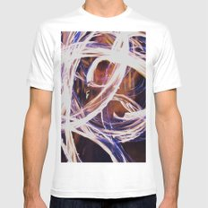 Fire Poi Mens Fitted Tee White MEDIUM