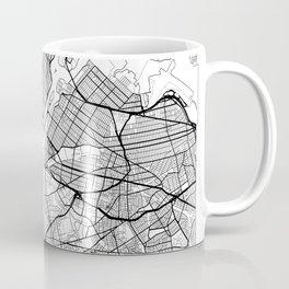 New York City Neutral Map Art Print Coffee Mug