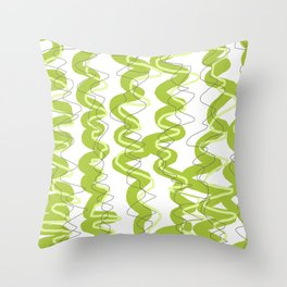 Scrambled up Green Throw Pillow
