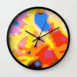 macro day-glo Wall Clock