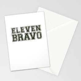 11 Bravo - US Infantry design - U.S. Military products Stationery Cards