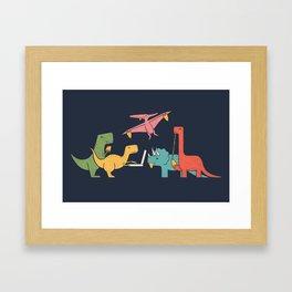 Dino Pizza Framed Art Print