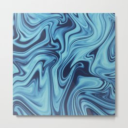 We All Flow On // Day Metal Print