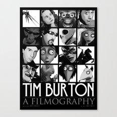 Tim Burton - a filmography Canvas Print