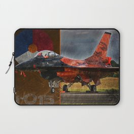 RNLAF F-16 Orange Lion Laptop Sleeve