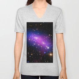 Colliding Galaxies Unisex V-Neck
