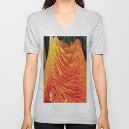 491 - Abstract Flower Design Unisex V-Neck