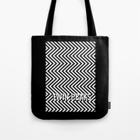 twin peaks Tote Bags featuring Twin Peaks by Spyck