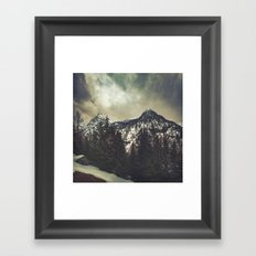 Alpine Twin Peaks Framed Art Print