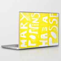 mary poppins Laptop & iPad Skins featuring Mary Poppins Has A Posse by John Weeden