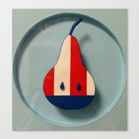 pear Canvas Prints featuring Pear by Jk & Frax
