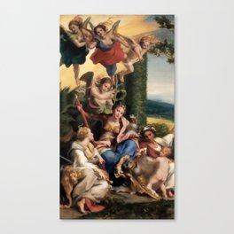 """Antonio Allegri da Correggio """"Allegory of Virtues"""" Canvas Print"""