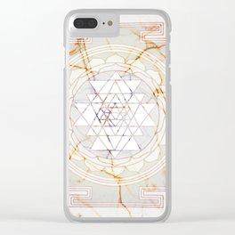 Sri Yantra pattern Clear iPhone Case