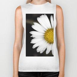 White daisy floating in the dark #2 Biker Tank