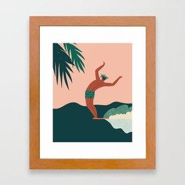 Go with a flow Framed Art Print