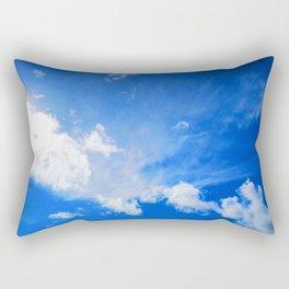 blue cloudy sky std Rectangular Pillow