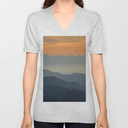 """""""Sunset at the mountains"""". Dreaming... Unisex V-Neck"""