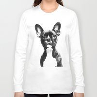 french bulldog Long Sleeve T-shirts featuring French BullDog by Maioriz Home