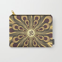 Om Mandala, Purple and Gold Fractal, Spiritual Gift, Yoga Lifestyle Carry-All Pouch