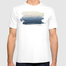 Layers MEDIUM White Mens Fitted Tee