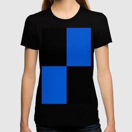 Big mosaic blue black T-shirt