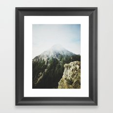 She saw the mountain mist Framed Art Print