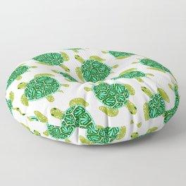 Sea Turtle – Green Palette Floor Pillow