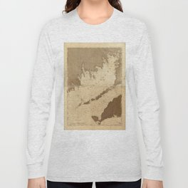 Vintage Map of Buzzards Bay (1776) Long Sleeve T-shirt