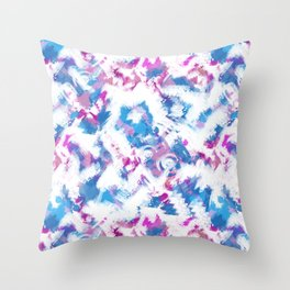 Abstraction . Colorful brush strokes. Throw Pillow