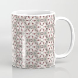 Red White Brown Geometric - Peppermint Wheels Coffee Mug