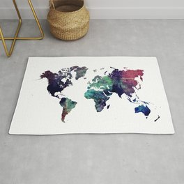 Map of the World After Ice Age Rug