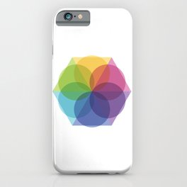 Fig. 012 Geometric Circles and Triangles iPhone Case